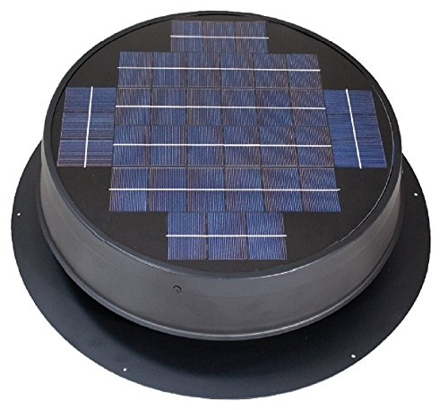 top best rated natural light solar attic fan ultra low-profile