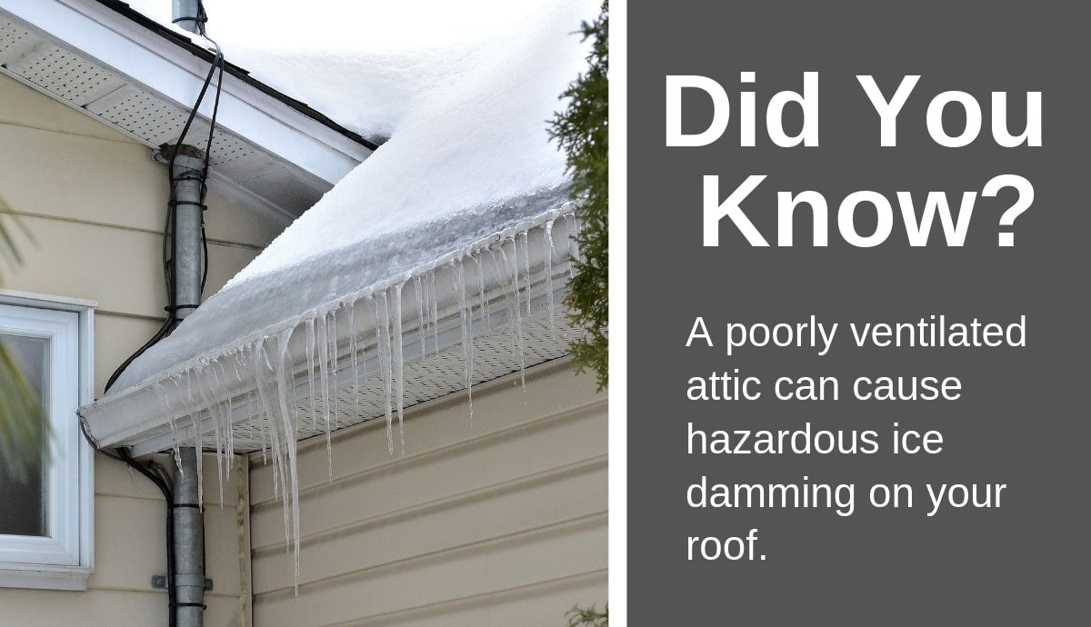 Gable Attic Fan (Ice Dam)