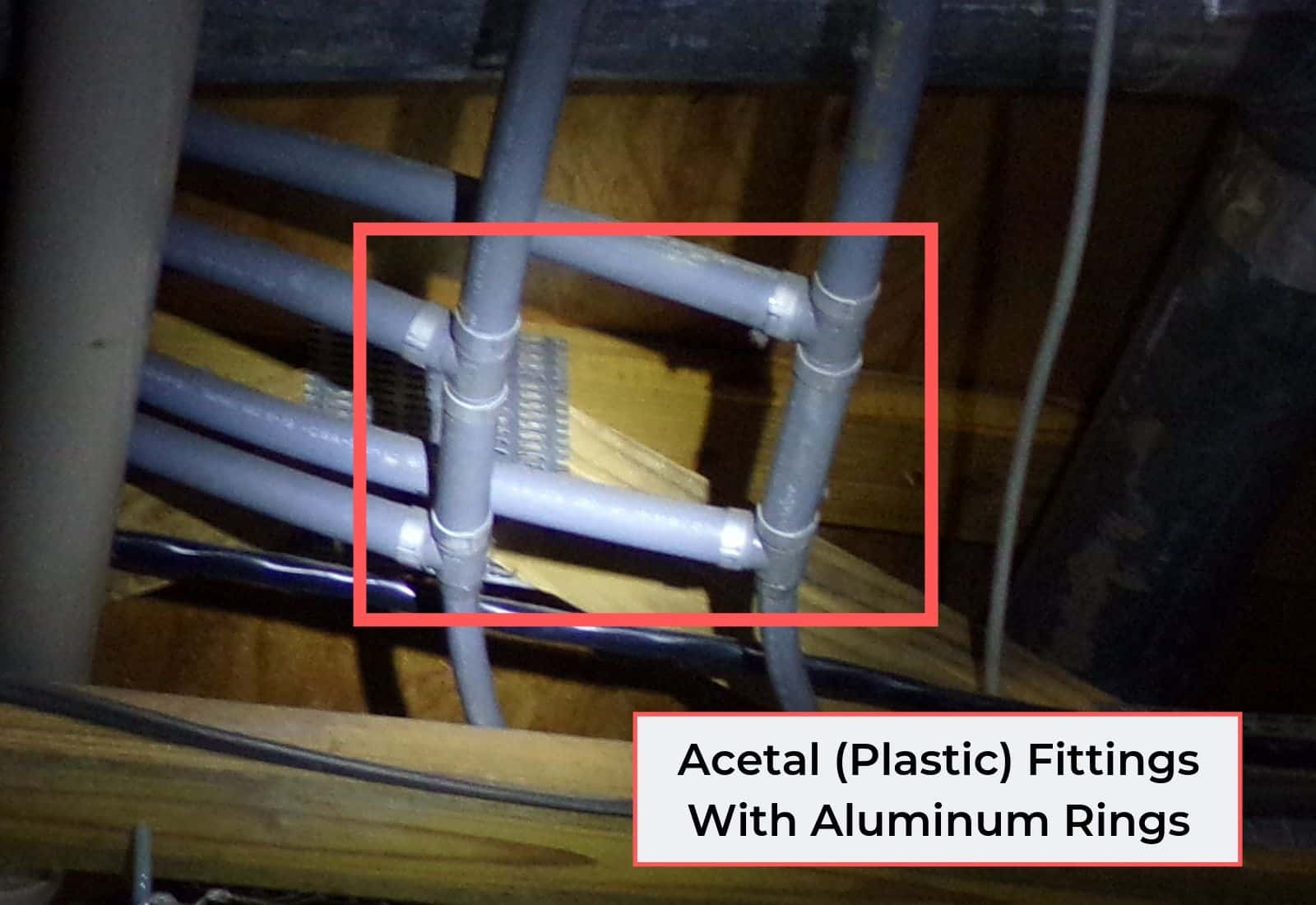 Acetal Fittings With Aluminum Rings (Polybutylene)