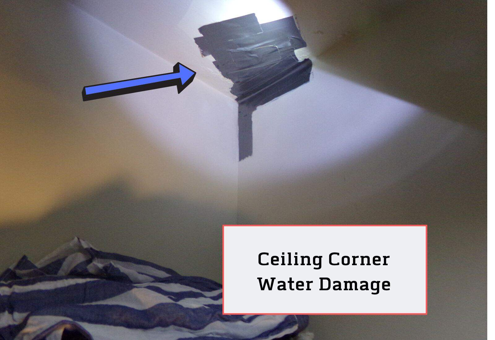 Ceilling Corner Water Damage