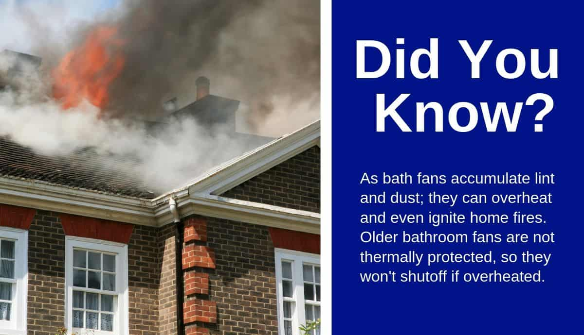 dirty bathroom exhaust fans cause fires