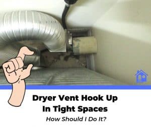 how to hook up dryer vent in tight space