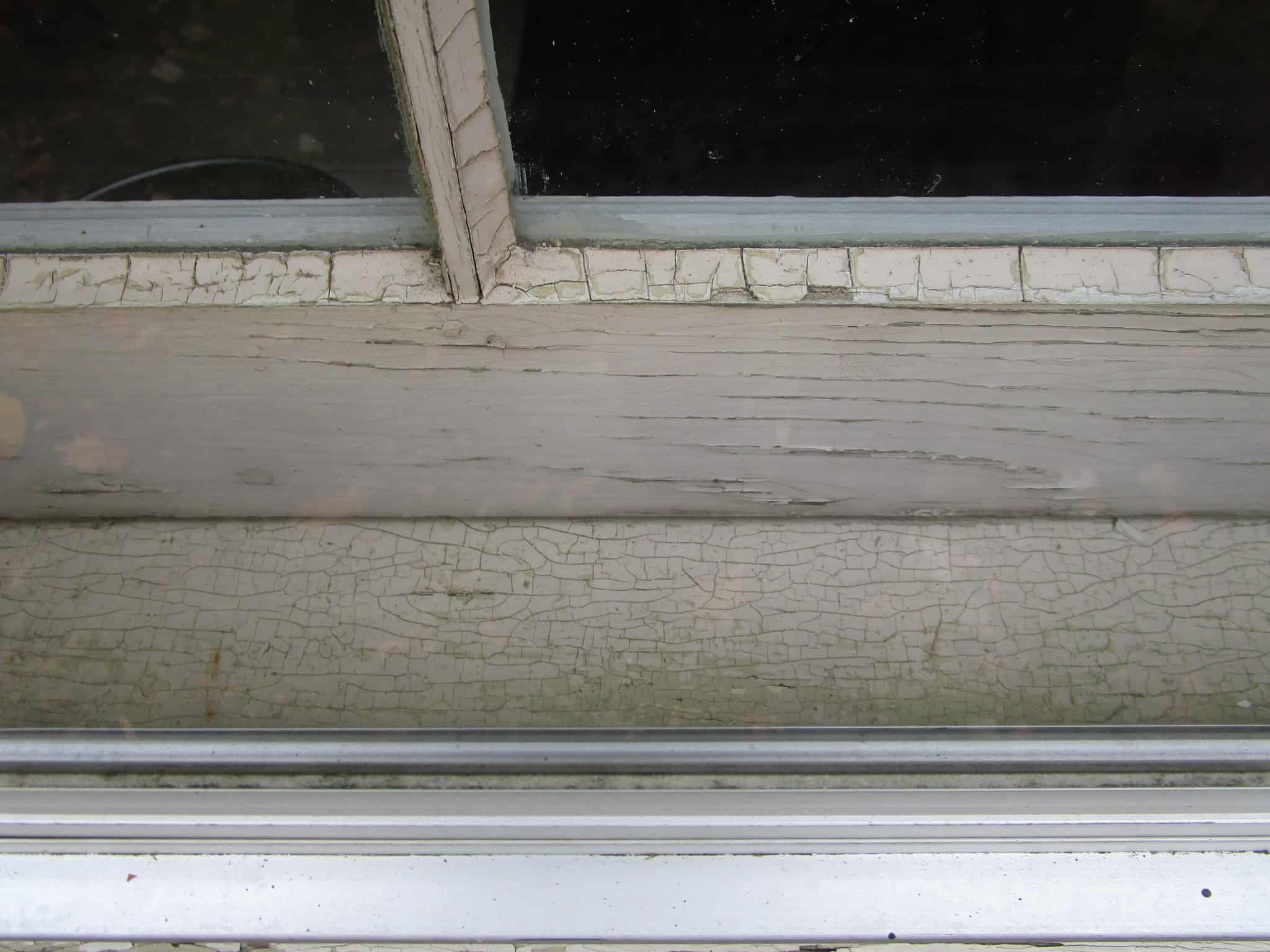 old single-paned wooden window