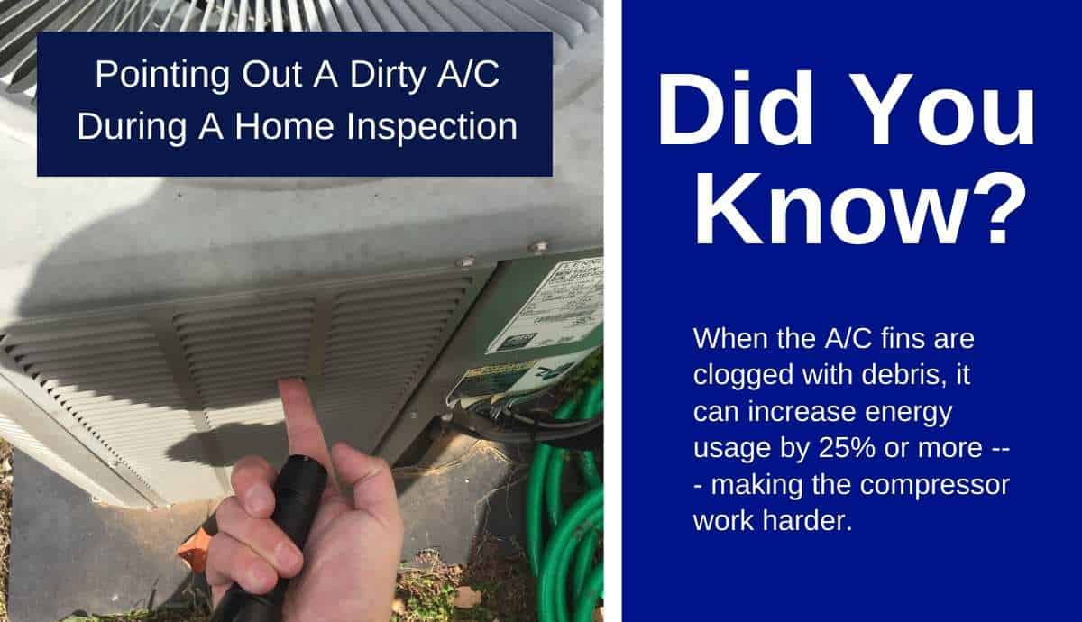 cleaning a dirty ac condenser