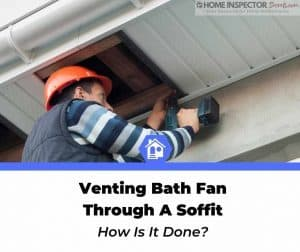 how to vent bathroom fan through soffit