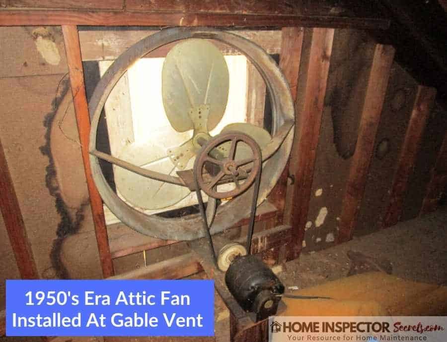 gable attic fan