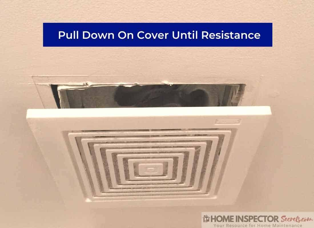 how to oil a bathroom exhaust fan (cover removal)