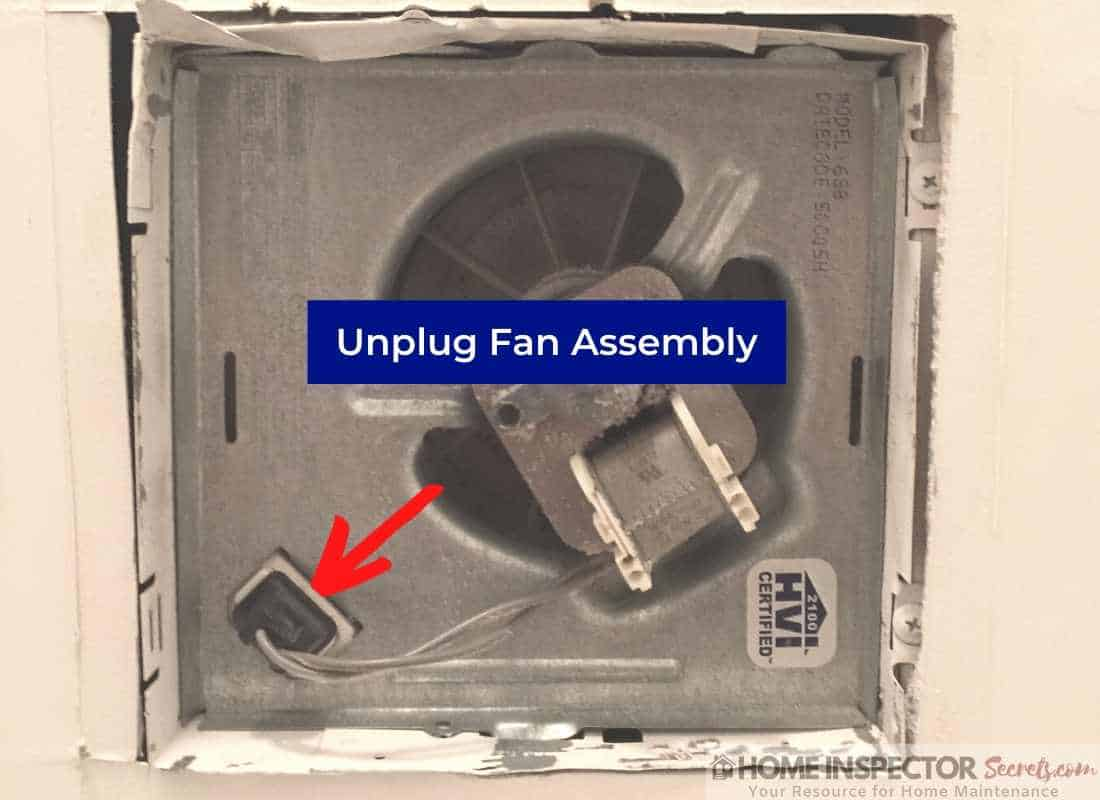 how to oil a bathroom exhaust fan (unplug fan assembly)