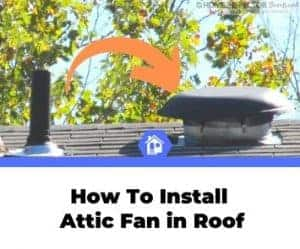 how to install attic fan in roof