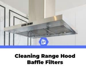 how to clean range hood baffle filters