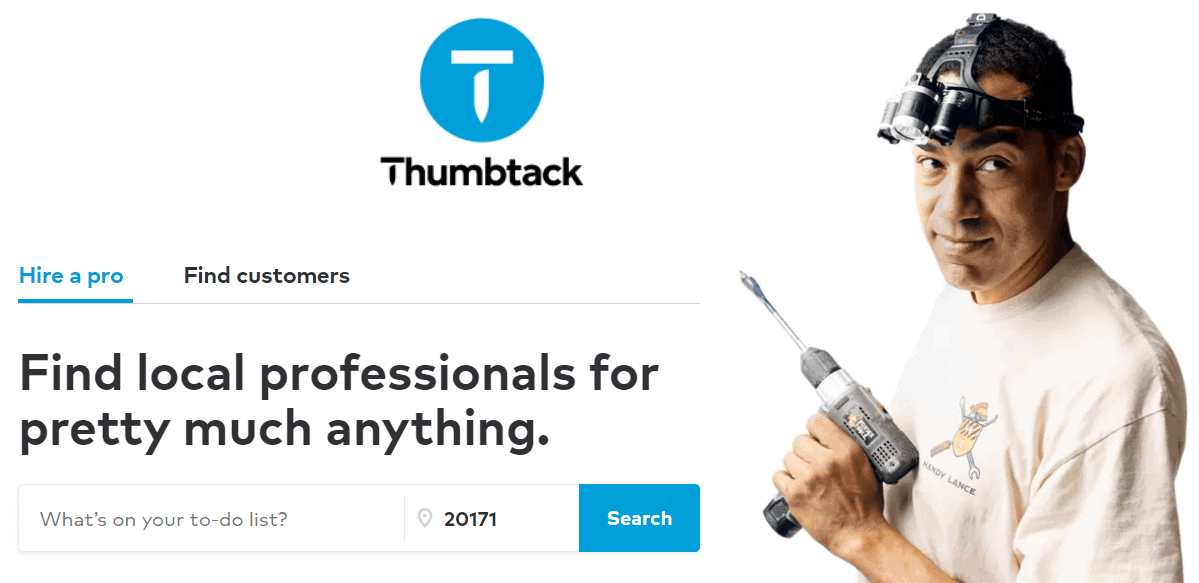 use thumbtack for next home project