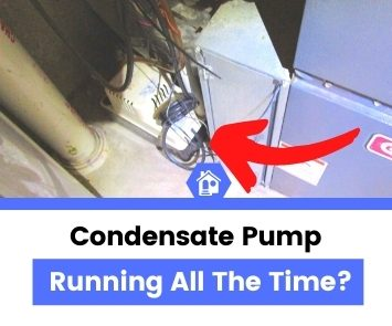 condensate pump running continuously