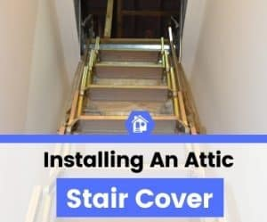 how to install attic stair tent cover