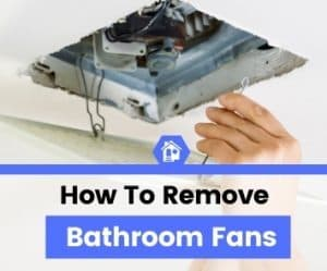 how to remove bathroom exhaust fans
