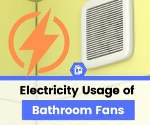 how much electricity does a bathroom fan use