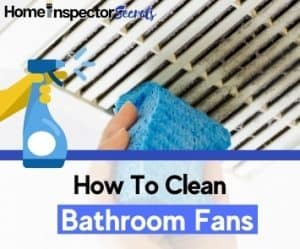 how to clean bathroom fan
