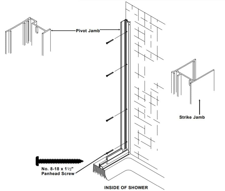how to install a pivot shower door