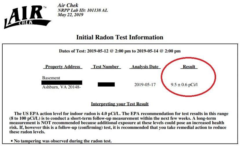 radon testing home inspection